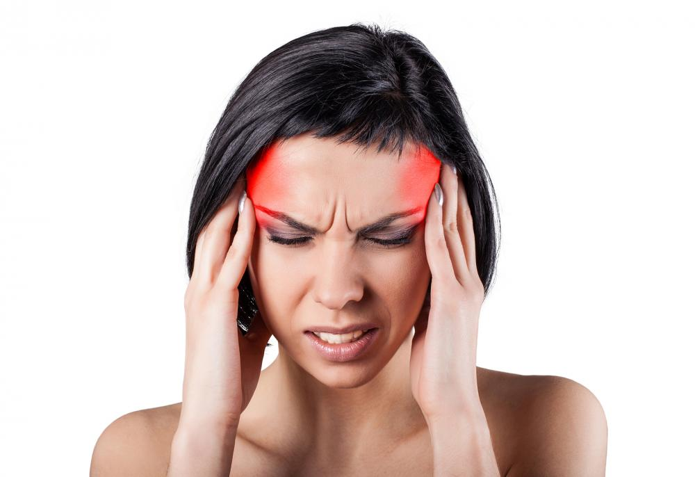 woman with a migraine headache in east greenwich